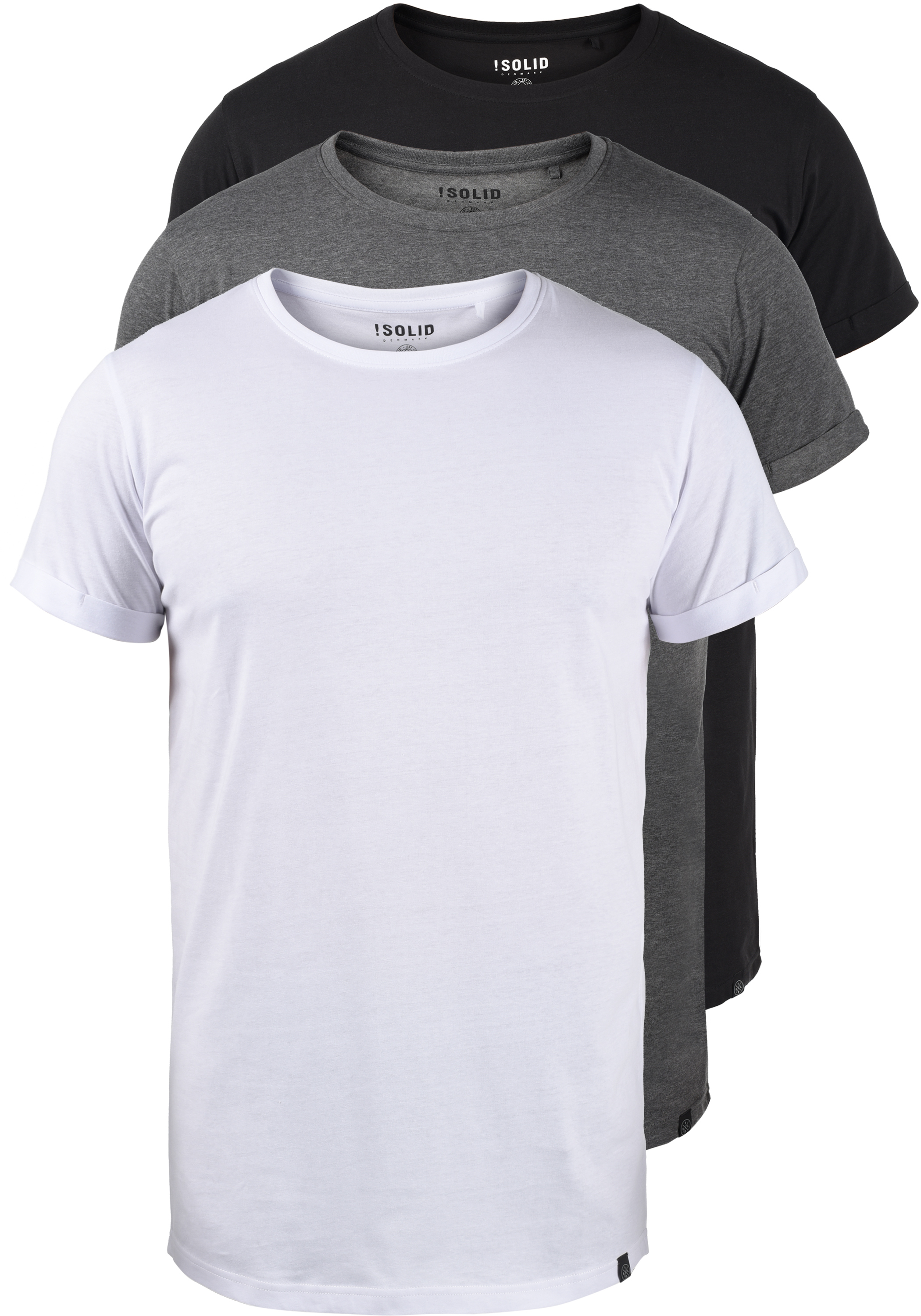 Solid Longo (3er-Pack) T-Shirt