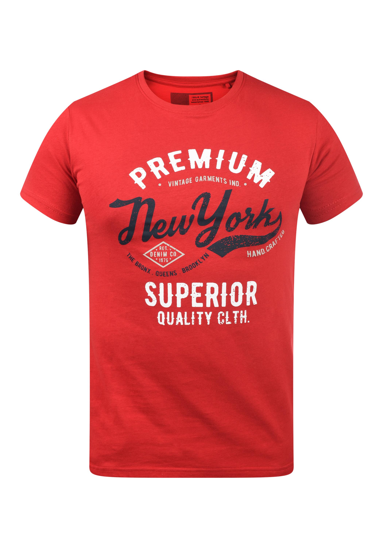 Solid Herren T-Shirt Kurzarm Shirt 21103983