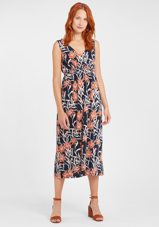 Fransa Damen Jerseykleid Shirtkleid Kleid lang 20607570 ...