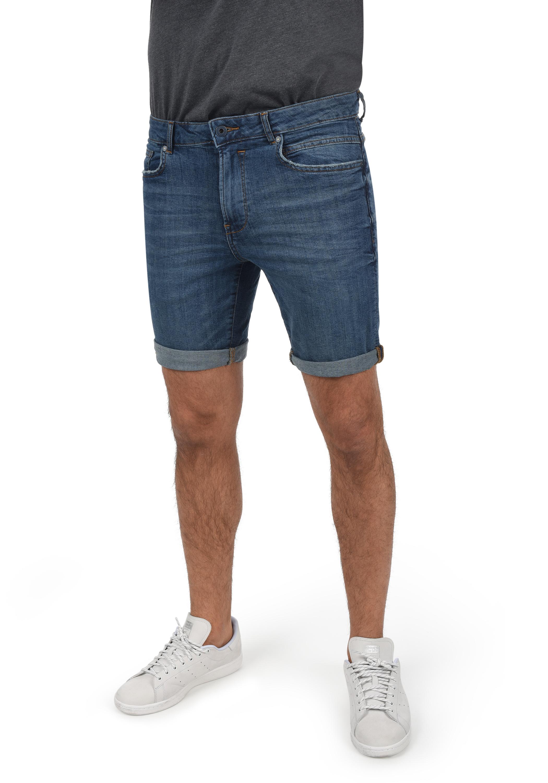 Solid Herren Jeans Shorts Kurze Denim Hose 21104053