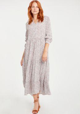 b.young Damen Blusenkleid Lange Bluse Kleid Langarm 20808230 mit Blumen-Muster – Bild 11