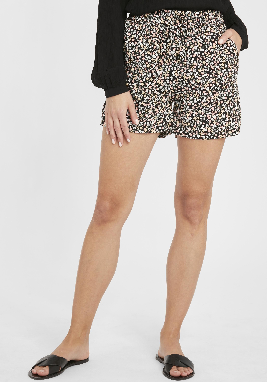 b.young Damen Chino Shorts Bermuda Kurze Hose 20807860 mit Blumenmuster