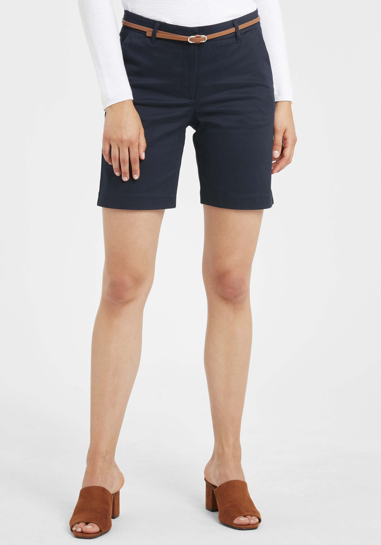b.young Damen Chino Shorts Bermuda Kurze Hose 20805588 mit Gürtel