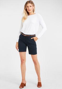 b.young Damen Chino Shorts Bermuda Kurze Hose 20805588 mit Gürtel – Bild 2