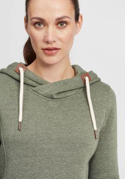 OXMO Vicky Hood Long Damen Kapuzenpullover Hoodie Pullover mit Kapuze – Bild 4