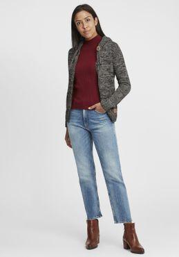 OXMO Philadelphia Damen Strickpullover Grobstrick Pullover Mit Kapuze – Bild 14