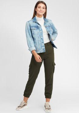 OXMO Rosa Damen Longsleeve Langarmshirt Shirt – Bild 2