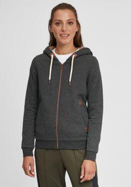 OXMO Vicky Pile Zip Damen Sweatjacke Cardigan Sweatshirtjacke Mit Teddy-Futter – Bild 1