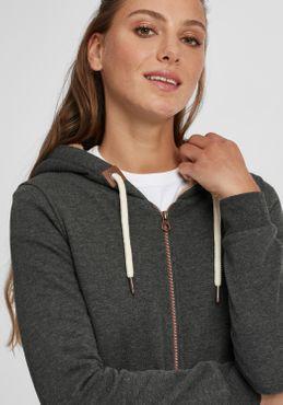 OXMO Vicky Pile Zip Damen Sweatjacke Cardigan Sweatshirtjacke Mit Teddy-Futter – Bild 4