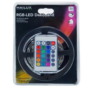 MAILUX RGB Flex Band Set LED Strip, Komplettset 3m, IP20, selbstklebend – Bild 1