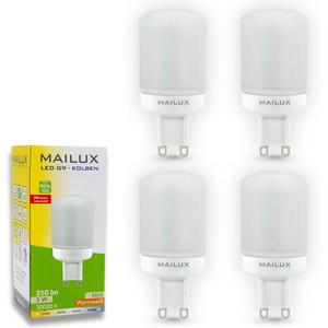 MAILUX G9 LED Kolben matt 3W 250lm ersetzt ca. 25W 2700K 270° – Bild 1