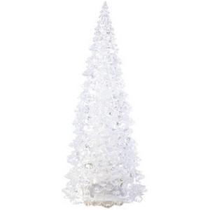 MAILUX LKC19123 LED-Tannenbaum | durchsichtiges Polystyrol | 23cm hoch | automatischer Farbwechsel