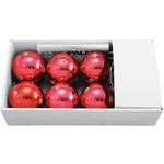 MAILUX LKC19147 LED Christbaumkugeln | 6er Set | rot hochglänzend | 6 warmweiße LED je Kugel | 2 Programme | inklusive Netzteil 001