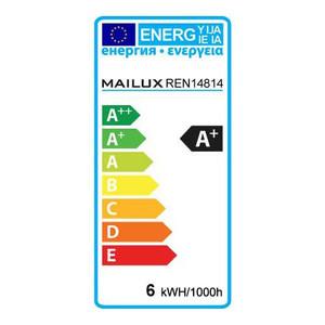 MAILUX E27 6 Watt LED Birne Retrodesign warmes Licht 2700K 600 Lumen – Bild 4