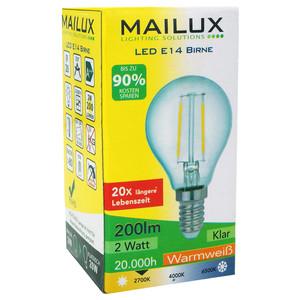 MAILUX E14 2 Watt LED Birne Retrodesign warmes Licht 2700K 200 Lumen – Bild 3