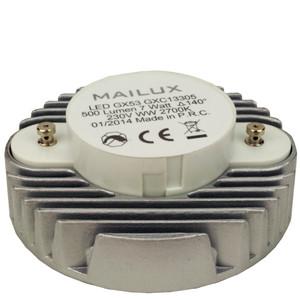 MAILUX LED GX53-7W 7 Watt 500 lumen warmweiß 2700K – Bild 2