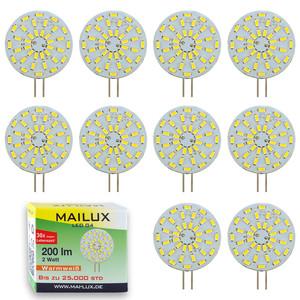 10x MAILUX LED G4S10472 | G4 | Rundform | 2W | 200lm | 3000K | 36 SMD | warmweiss | 10er Vorteilspack – Bild 1