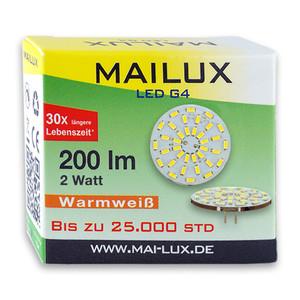 MAILUX LED G4S15088 | G4 | Rundform | 2W | 200lm | 3000K | 36 SMD | warmweiss – Bild 3