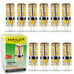 10x MAILUX LED G4S11059 | G4 | Stift | 3W | 300lm | 3000K | 27 SMD | dimmbar | warmweiss