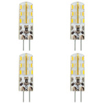 4x MAILUX LED G4M12148 | G4 | Stift | 1,5W | 120lm | 3000K | 24 SMD | warmweiss
