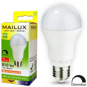 MAILUX E27 10 Watt LED warmweiß 810 Lumen mit Dimmfunktion – Bild 1