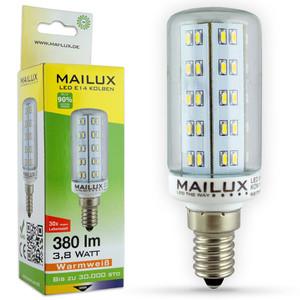 MAILUX KON11110 LED Lampe Kolben klar 4W E14 390lm 2700K ersetzt ca. 35W – Bild 1