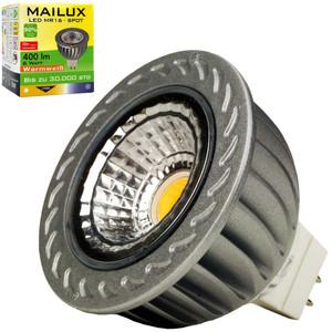 MAILUX SPC11189 LED Lampe Spot klar MR16 6W 400lm 38° warmweiß 2700K ersetzt 40W