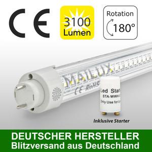 MAILUX MLXTT3053 T8 LED Röhre 830 G13 150cm 30W Klar 3000K