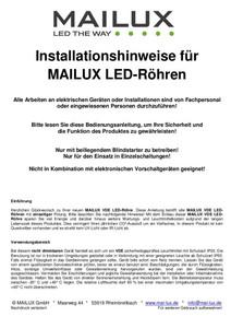 MAILUX MLXTM1024 T8 LED Röhre 840 G13 60cm 10W Matt 4000 K – Bild 2