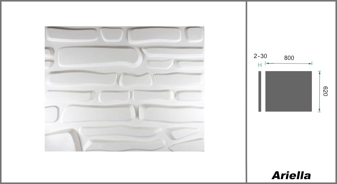 1 qm | 3D Platten | Natur | Stuck | Paneele | 63x80cm | Ariella