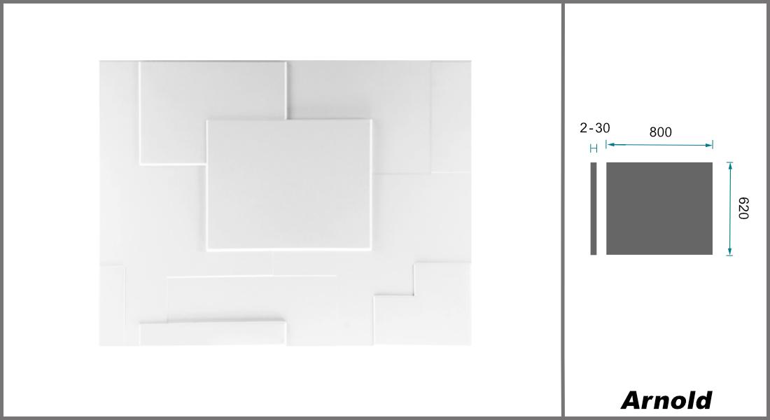1 qm | 3D Platten | Natur | Stuck | Paneele | 62x80cm | Arnold