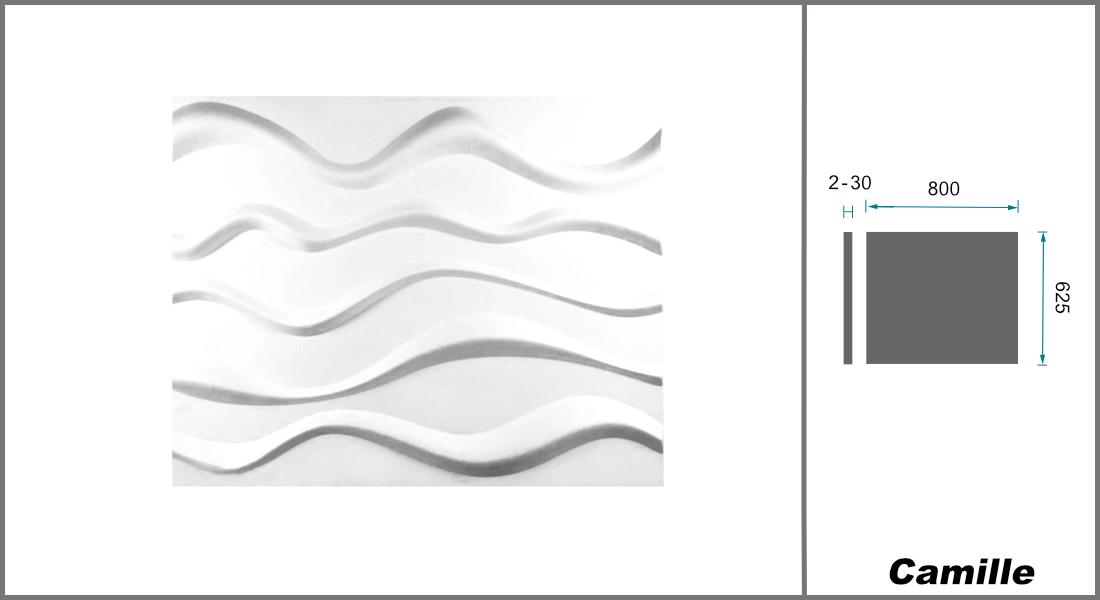 1 qm | 3D Platten | Natur | Stuck | Paneele | 62x80cm | Camille