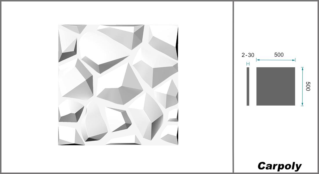 1 qm | 3D Platten | Natur | Stuck | Paneele | 50x50cm | Carpoly