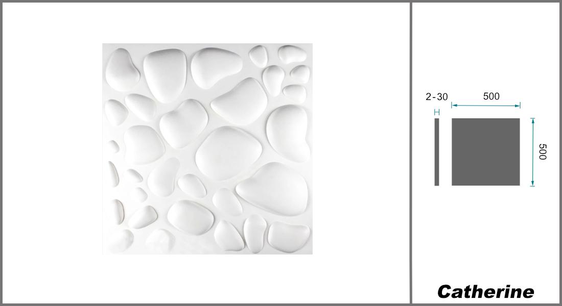 1 qm | 3D Platten | Natur | Stuck | Paneele | 50x50cm | Catherine
