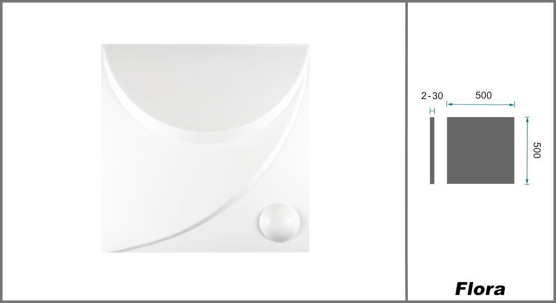 1 qm | Deckenplatten | EPS | formfest | Marbet | 50x50cm | Flora