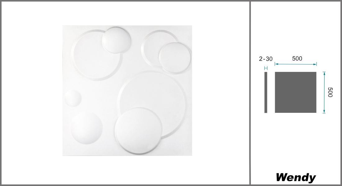 1 qm | 3D Platten | Natur | Stuck | Paneele | 50x50cm | Wendy