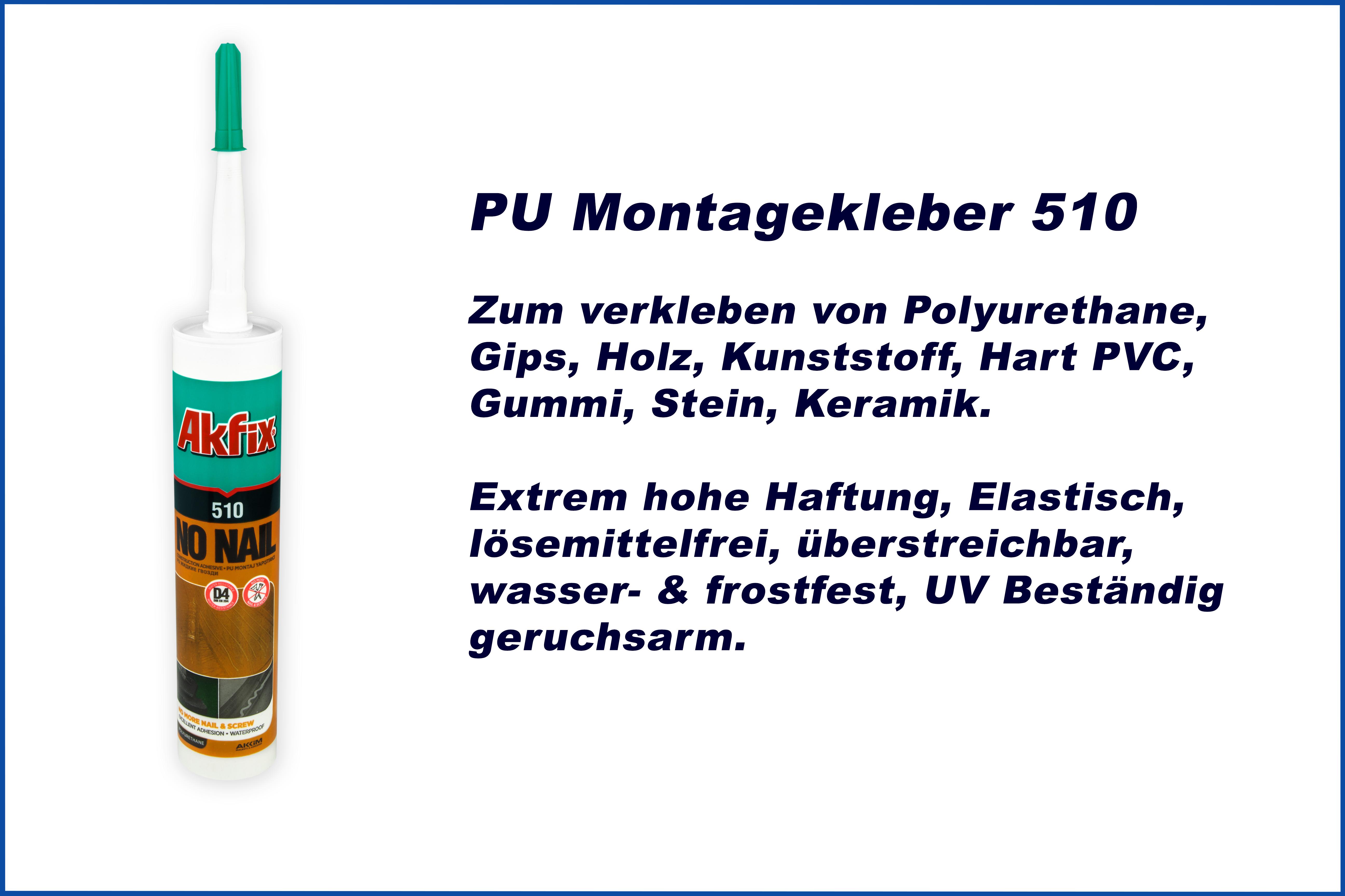 1 Kartusche | Montagekleber | PU | frostfest | Akfix | Akfix 510