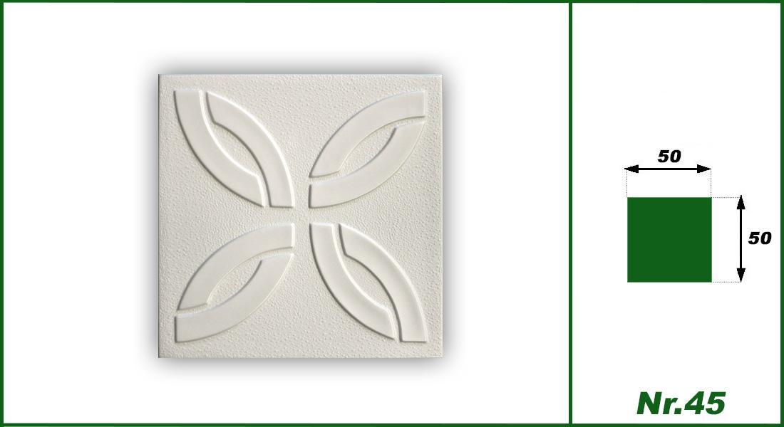 1 qm | Deckenplatten | XPS | formfest | Hexim | 50x50cm | Nr.45