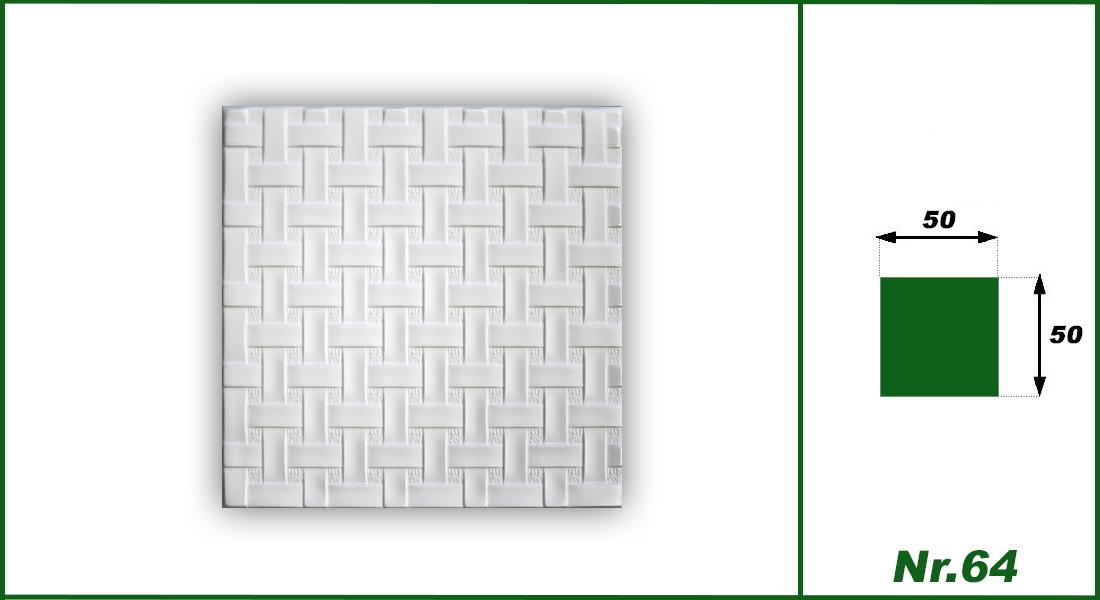 1 qm | Deckenplatten | XPS | formfest | Hexim | 50x50cm