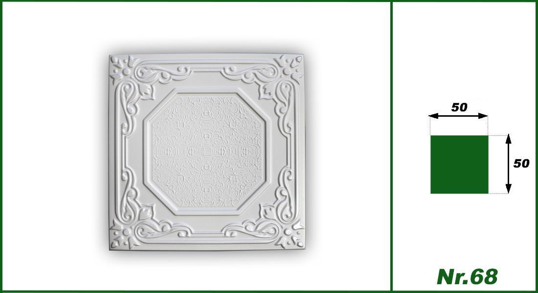 1 qm | Deckenplatten | XPS | formfest | Hexim | 50x50cm | Nr.68
