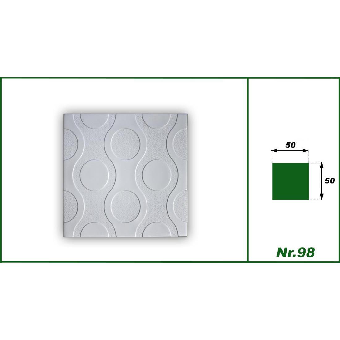 1 qm | Deckenplatten | XPS | formfest | Hexim | 50x50cm | Nr.98