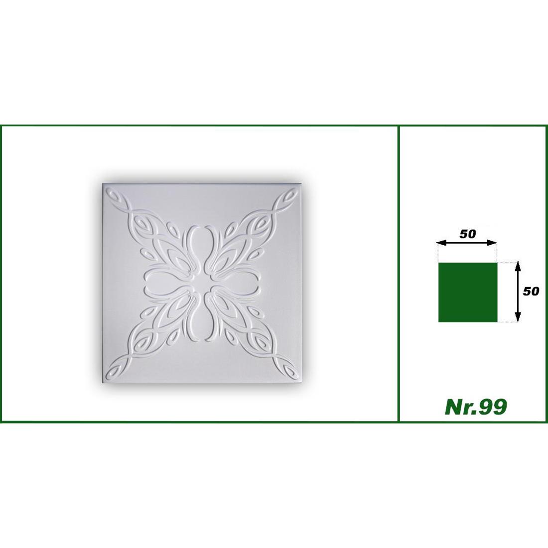 1 qm | Deckenplatten | XPS | formfest | Hexim | 50x50cm | Nr.99