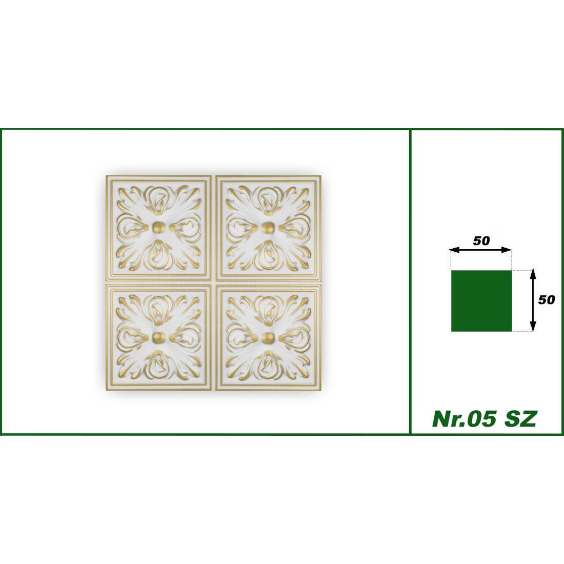 1 qm | Deckenplatten | XPS | formfest | Hexim | 50x50cm | Nr.05