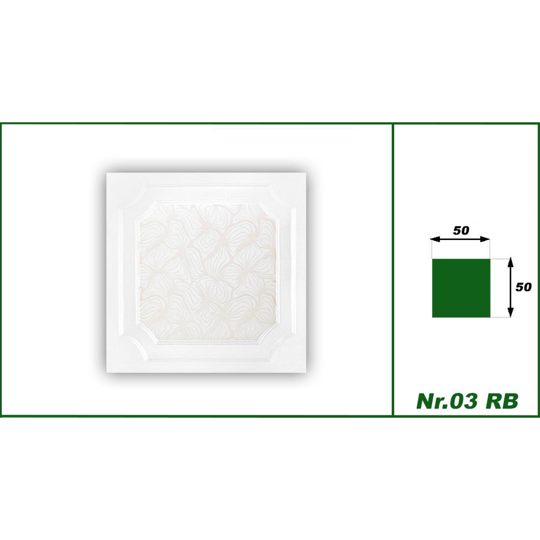 1 qm | Deckenplatten | XPS | formfest | Hexim | 50x50cm | Nr.03