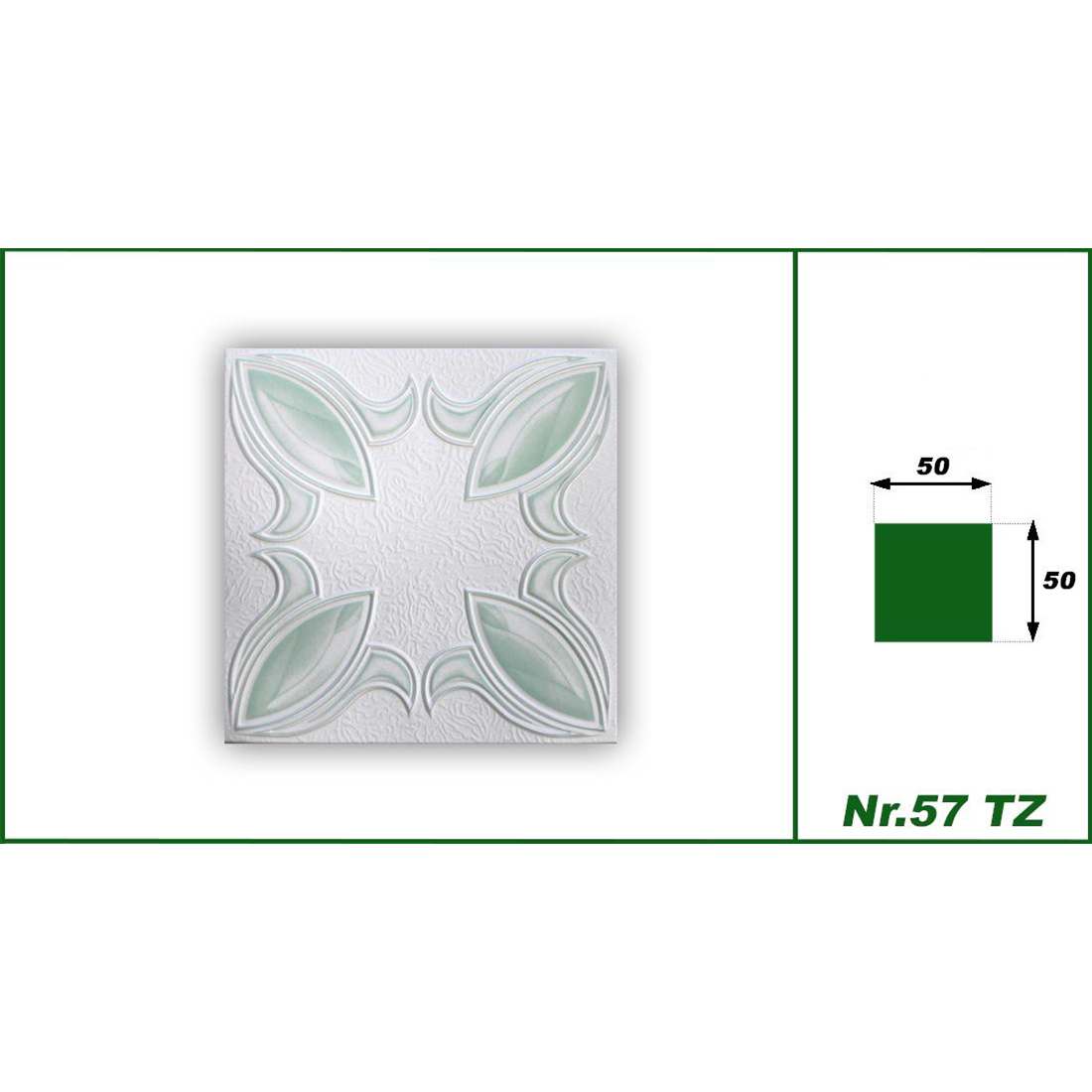 1 qm | Deckenplatten | XPS | formfest | Hexim | 50x50cm | Nr.57