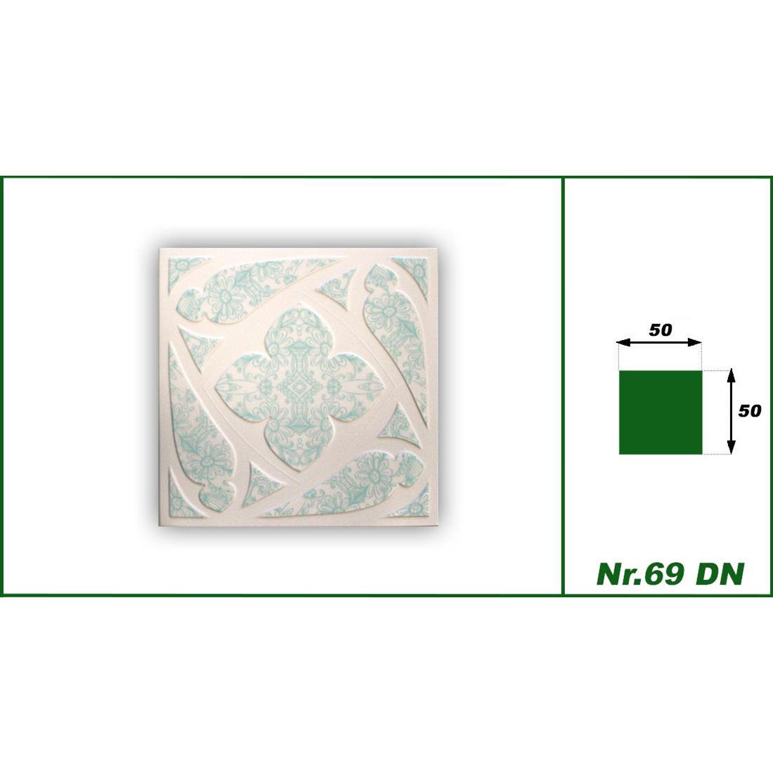 1 qm | Deckenplatten | XPS | formfest | Hexim | 50x50cm | Nr.69