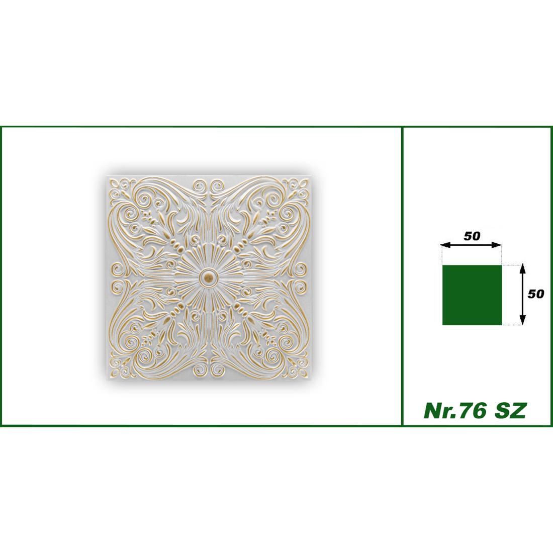 1 qm | Deckenplatten | XPS | formfest | Hexim | 50x50cm | Nr.76