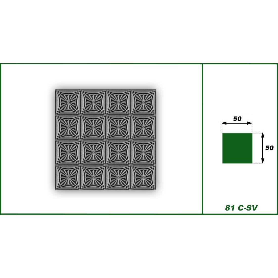 1 qm | Deckenplatten | XPS | formfest | Hexim | 50x50cm | NR.81