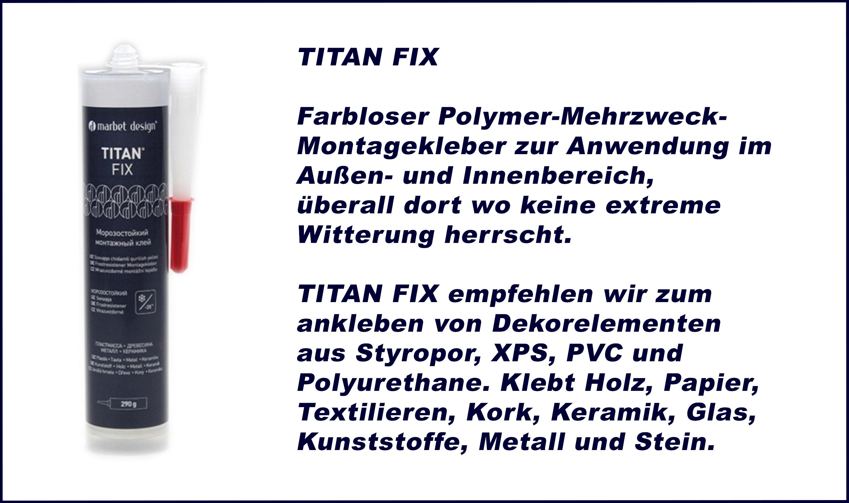 1 Kartusche | Montagekleber | Polymer | farblos | Marbet | Titan Fix