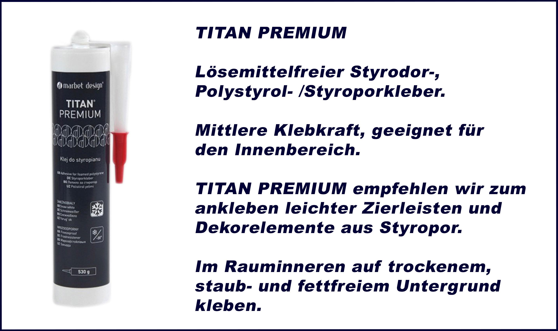 1 Kartusche | Montagekleber | Acryl | Styroporkleber | Titan Premium
